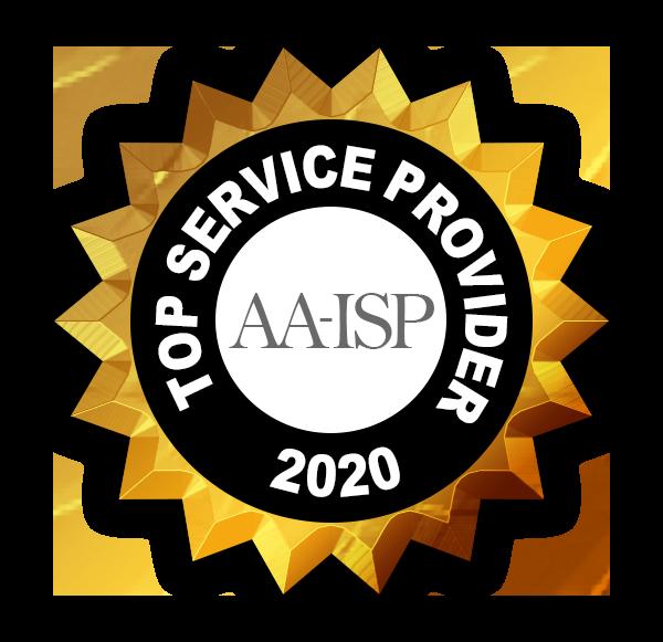 AA-ISP Top Service Provider 2020