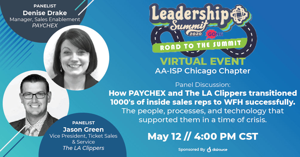 Virtual AA-ISP Chicago Chapter Meeting: How PAYCHEX and The LA Clippers Transitioned 1000's of Reps To WFH